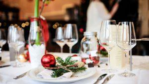 Weihnachtsessen im Restaurant