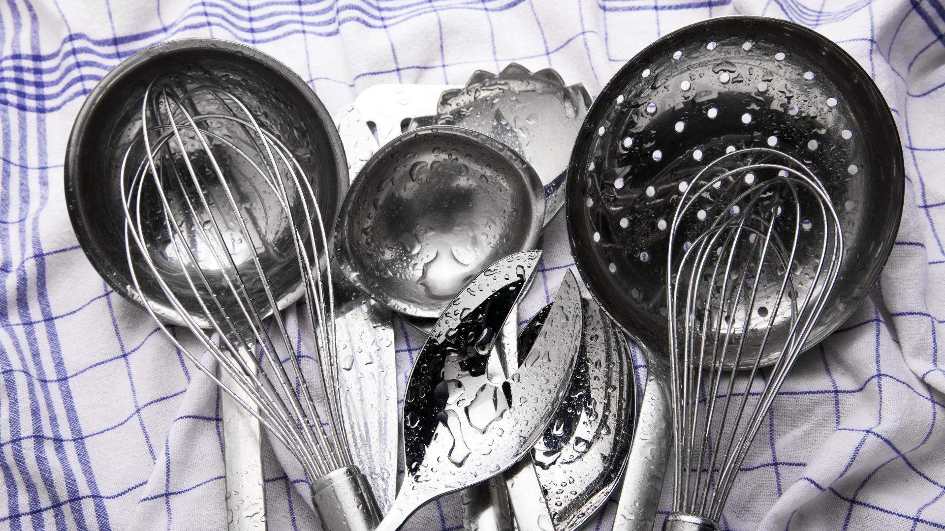 Säubern Spülen Küchenutensilien